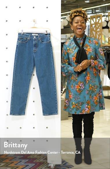 The Wedgie High Waist Straight Leg Jeans, sales video thumbnail