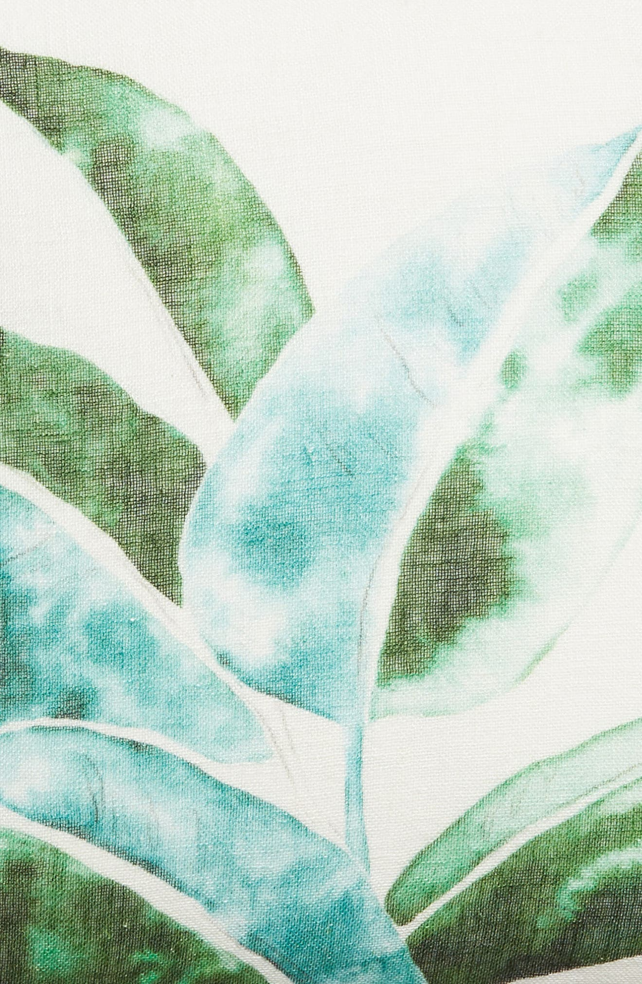 ,                             Leaf Print Accent Pillow,                             Alternate thumbnail 3, color,                             GREEN BRONZE MULTI