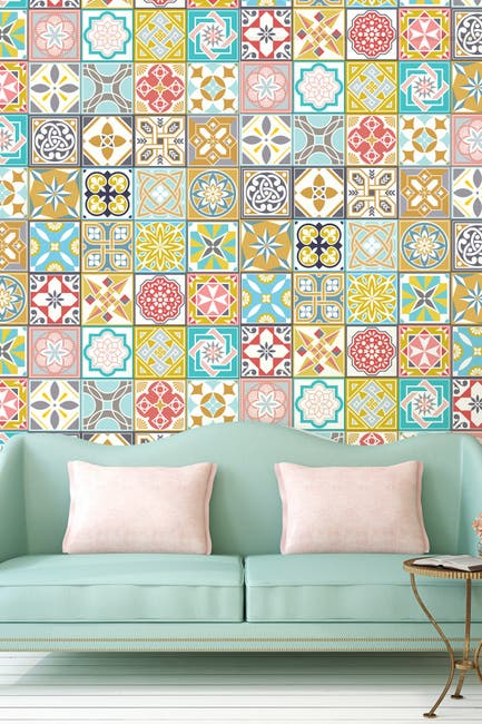 Image of WalPlus Malia Colourful Home Wall Tile Stickers
