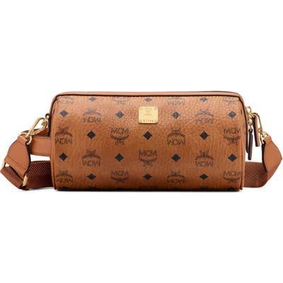Mcm Small Klassik Visetos Crossbody Bag - Brown