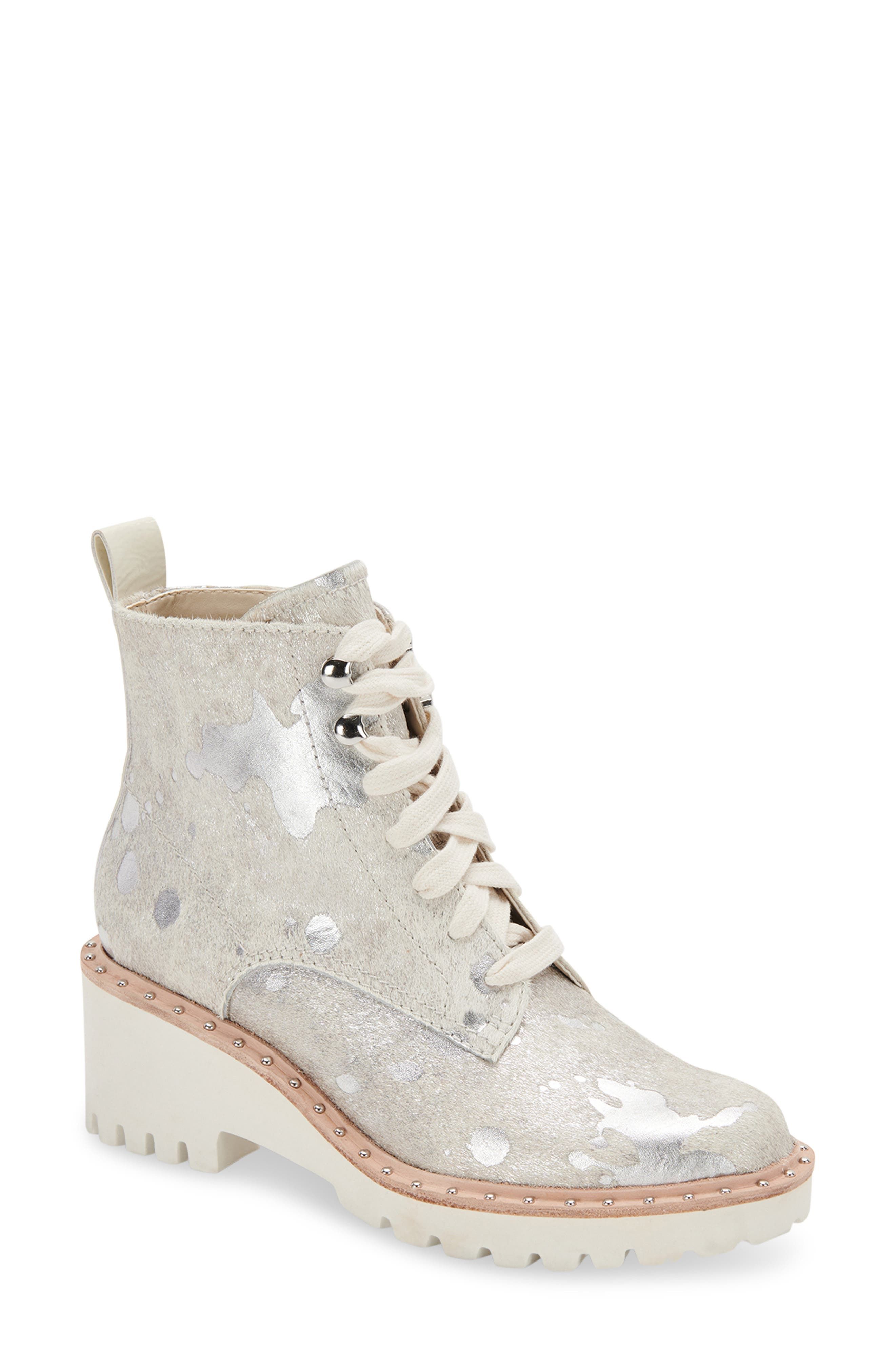 Hinto Studded Lace-Up Bootie