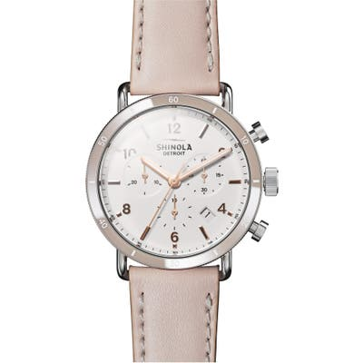 Shinola The Canfield Chrono Leather Strap Watch, 40Mm