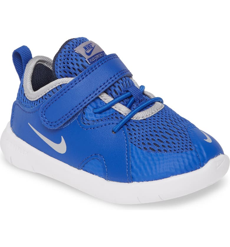 NIKE Flex Contact 3 TDV Running Shoe, Main, color, MIDNIGHT NAVY/VOLT-BLUE