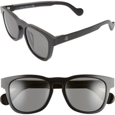 Moncler 5m Square Sunglasses - Shiny Black/ Smoke