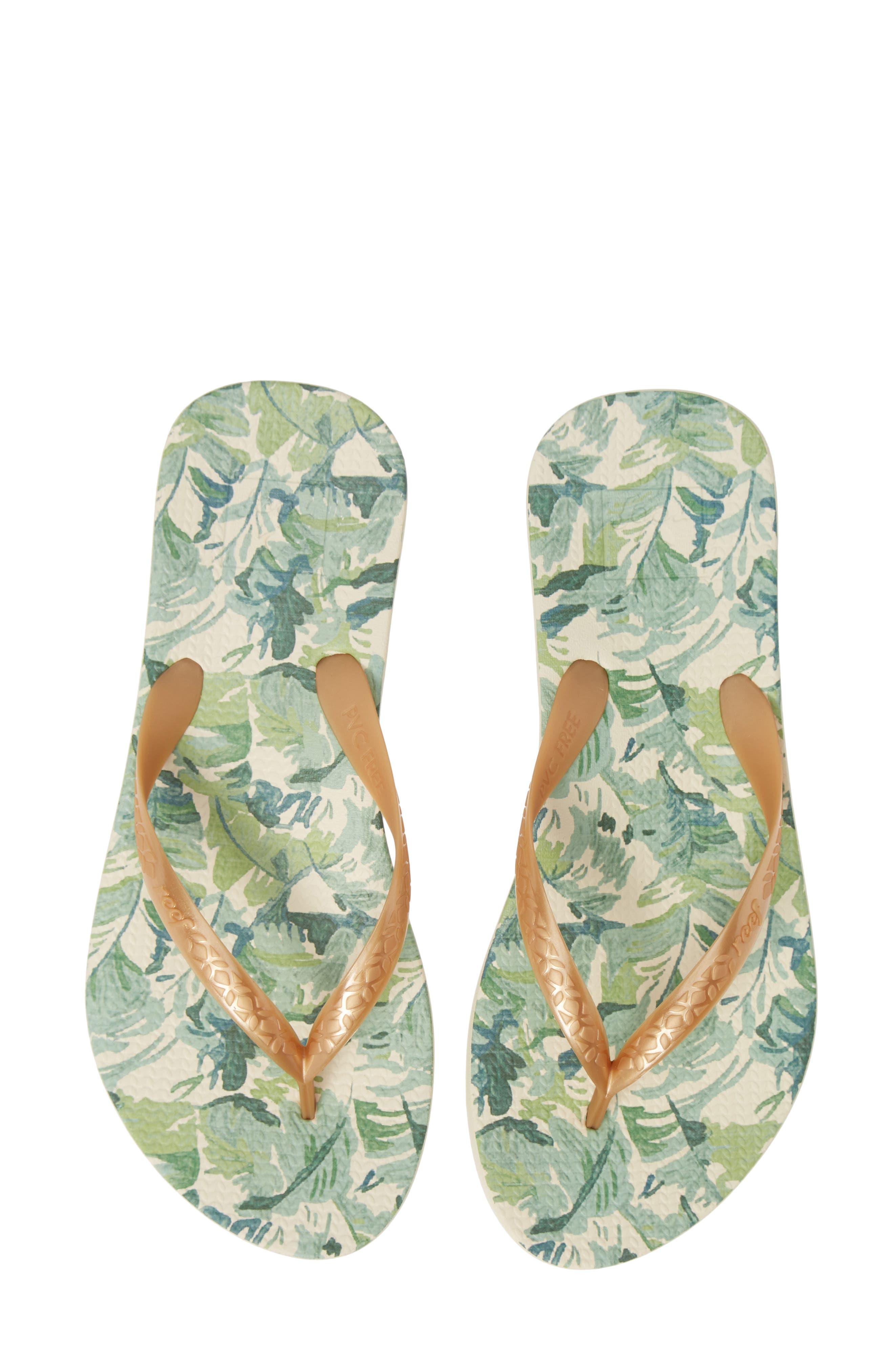 Reef Escape Lux Print Flip Flop, Green
