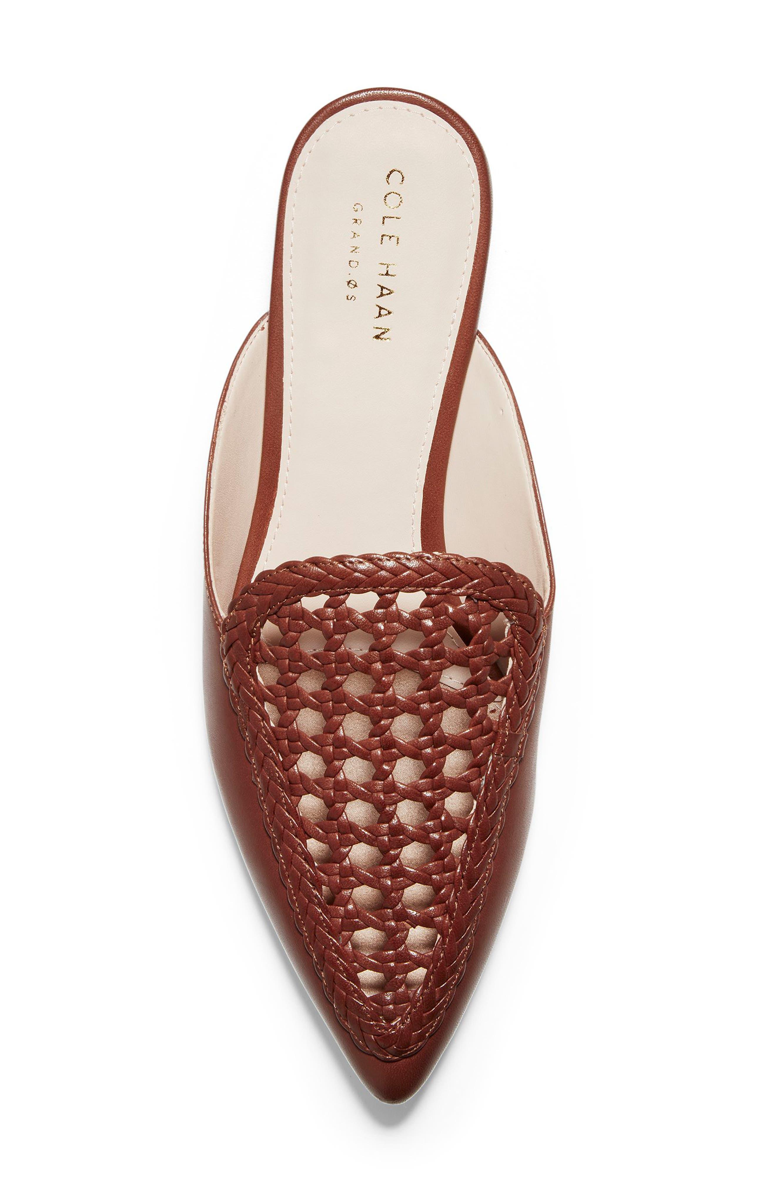 ,                             Payson Woven Mule,                             Alternate thumbnail 5, color,                             CHERRY MAHOGANY LEATHER