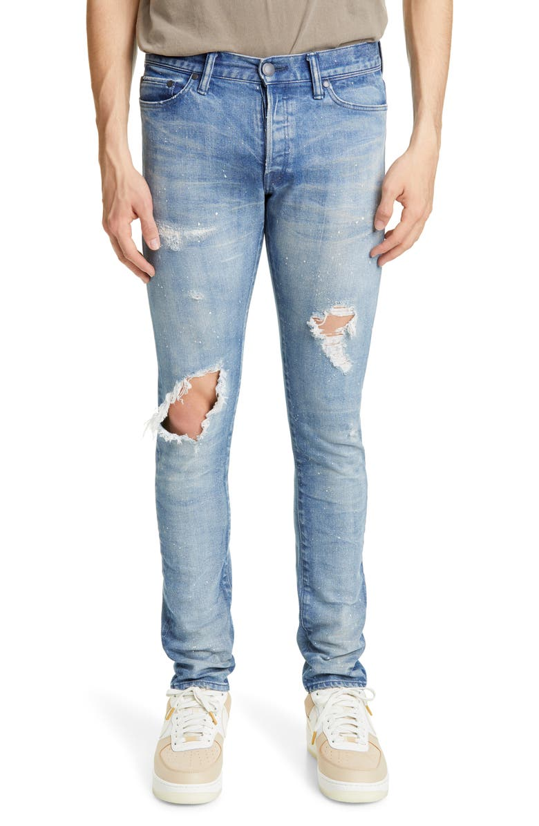 JOHN ELLIOTT The Cast 2 Ripped Skinny Fit Jeans, Main, color, COBA