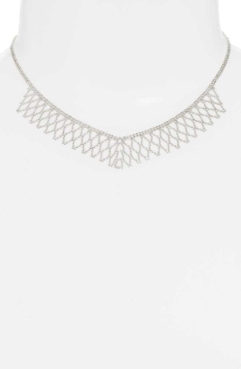 KAREN LONDON Make Me Melt Choker Necklace, Main, color, SILVER
