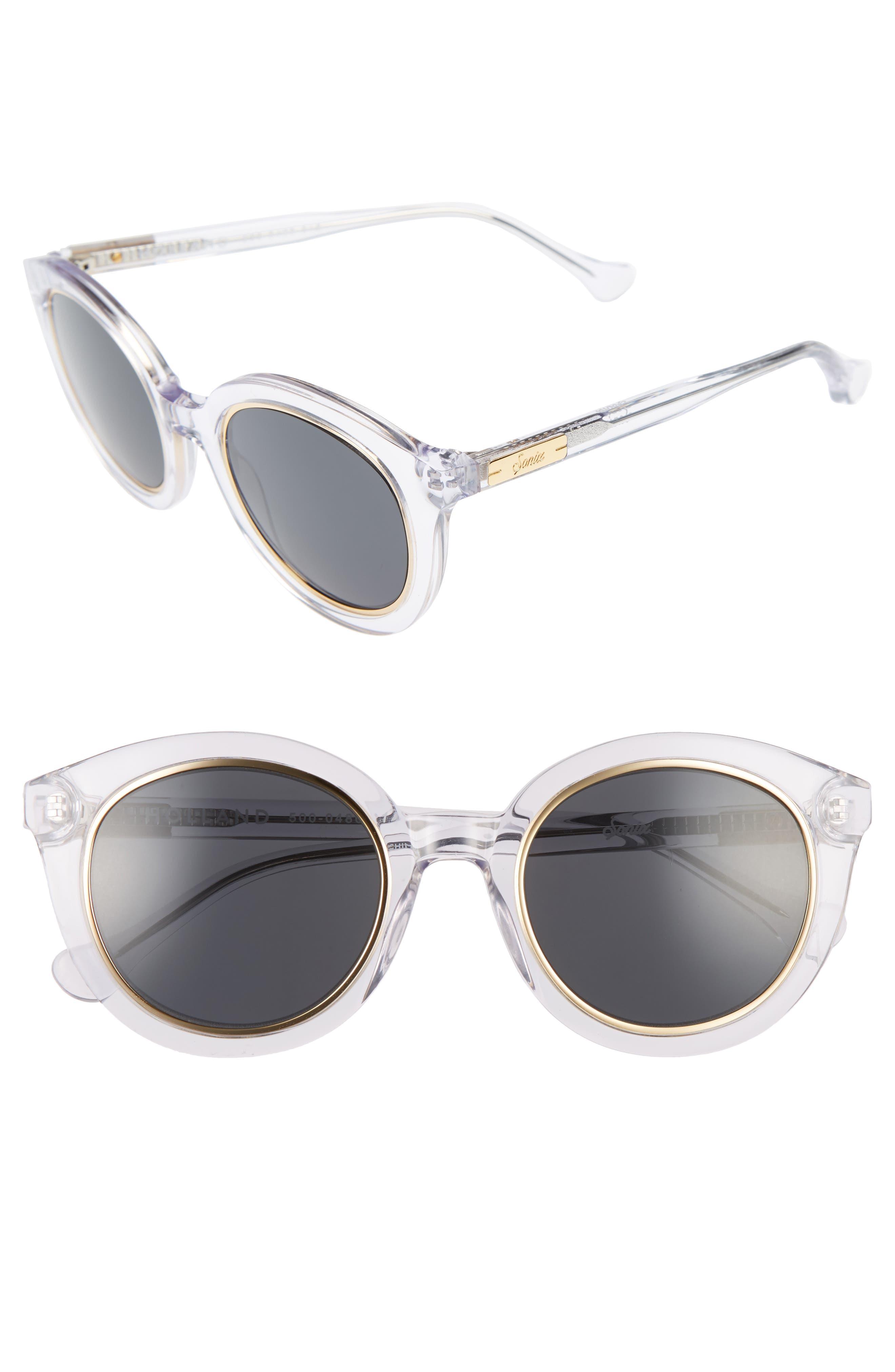 ,                             Holland 50mm Gradient Round Sunglasses,                             Main thumbnail 7, color,                             100