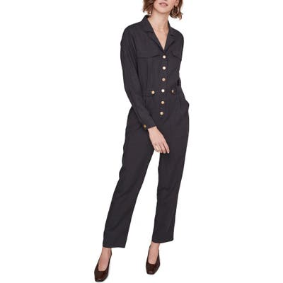 Astr The Label Siobhan Utility Jumpsuit, Black