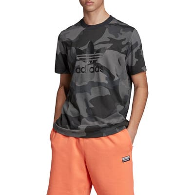 Adidas Originals Camo T-Shirt, Grey
