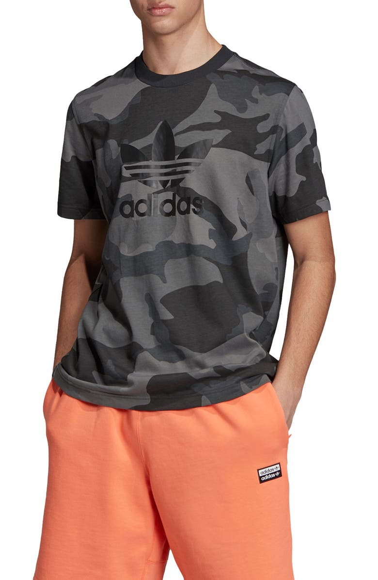 ADIDAS ORIGINALS Camo T-Shirt, Main, color, MULTICOLOR/ CARBON