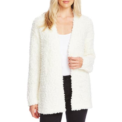 Vince Camuto Poodle Knit Cardigan, White