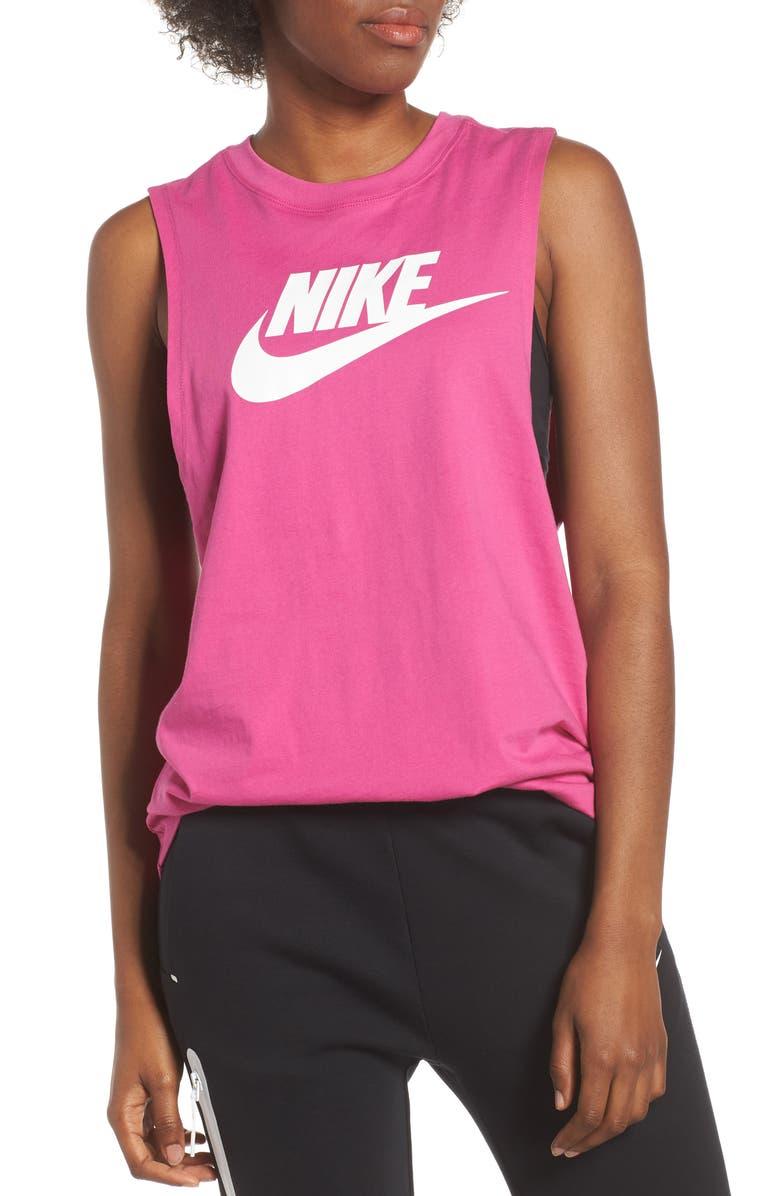 NIKE Sportswear Essential Futura Muscle Tank, Main, color, 666
