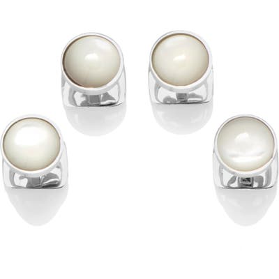 Cufflinks, Inc. Sterling Silver & Mother-Of-Pearl Shirt Studs