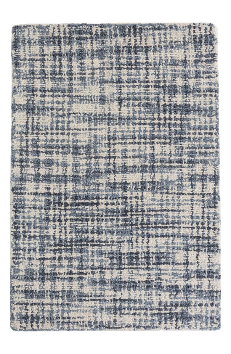 DASH & ALBERT Olio Hooked Wool Rug, Main, color, BLUE