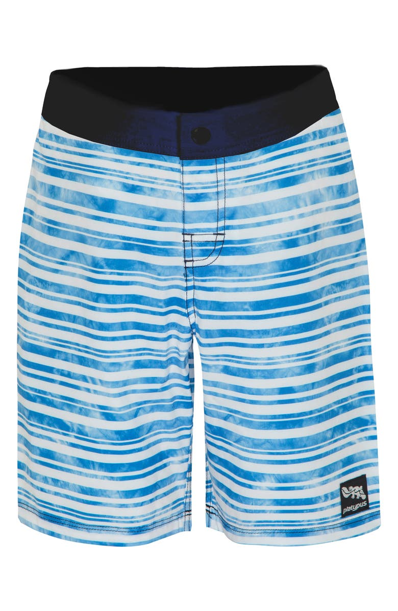 PLATYPUS AUSTRALIA Stripe Board Shorts, Main, color, STREAK