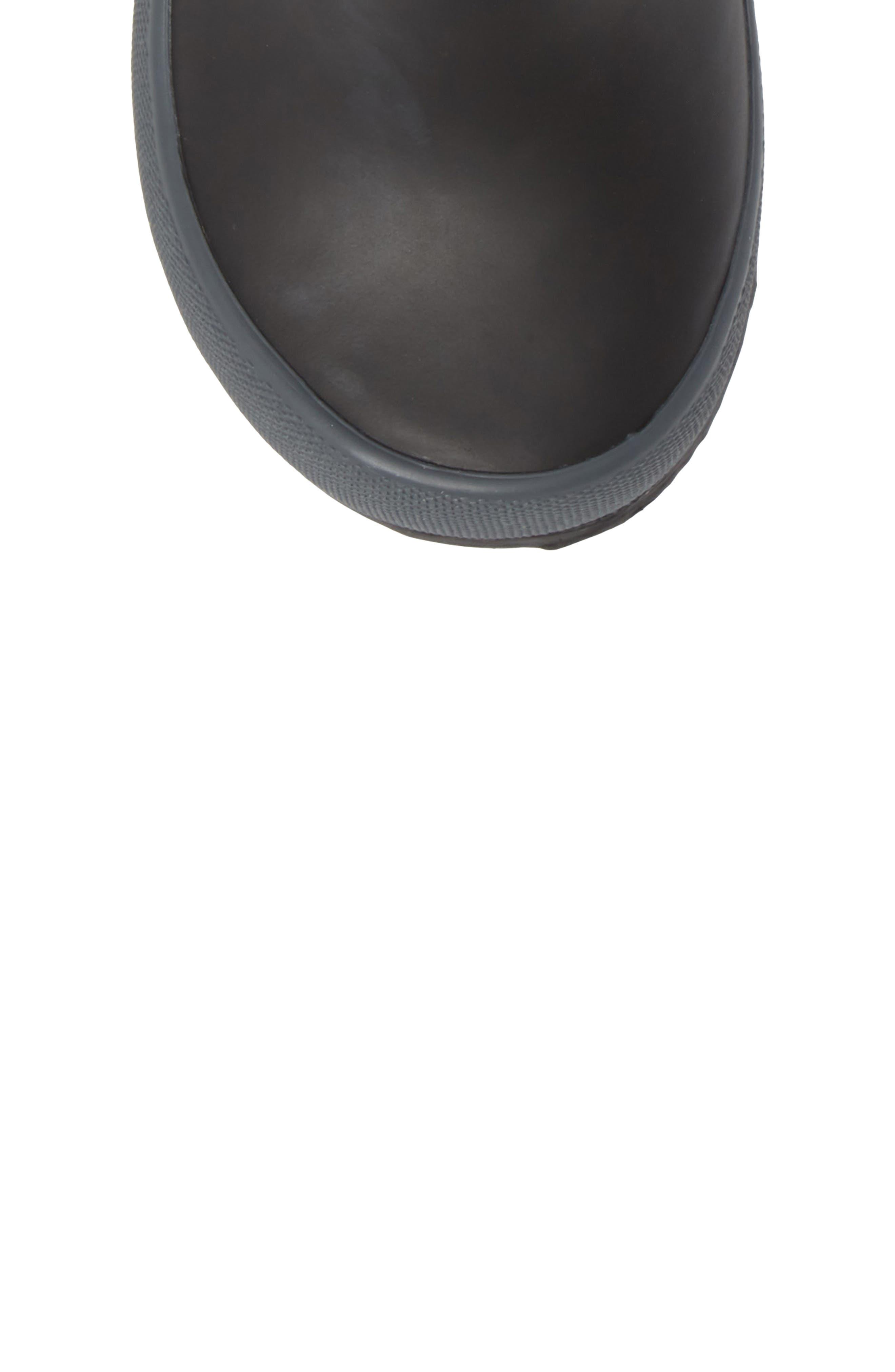 ,                             Skipper Solid Rubber Rain Boot,                             Alternate thumbnail 5, color,                             BLACK