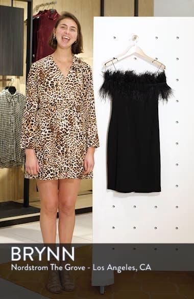 Feather Trim Off the Shoulder Dress, sales video thumbnail