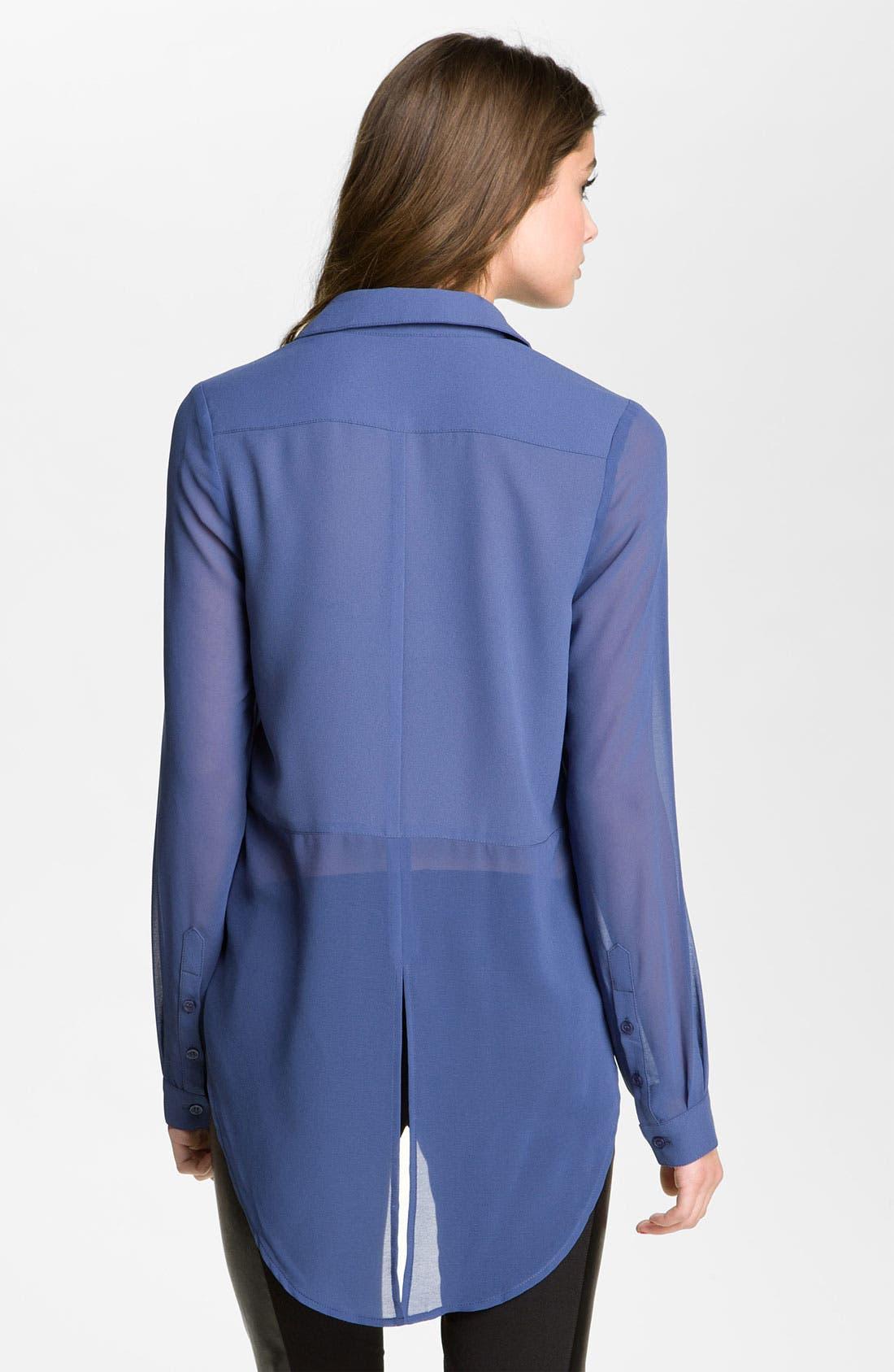 ,                             Lush Sheer Panel High/Low Shirt,                             Alternate thumbnail 7, color,                             409
