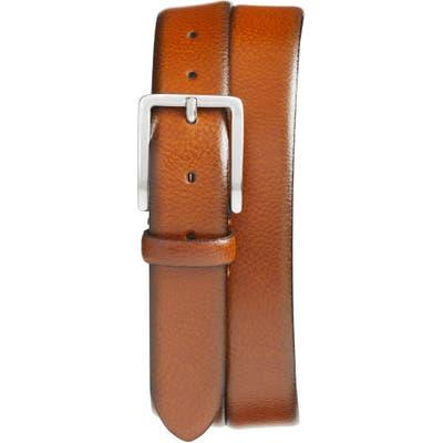 Johnston & Murphy Leather Belt, Tan