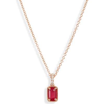 Bony Levy El Mar Ruby & Diamond Pendant Necklace (Nordstrom Exclusive)