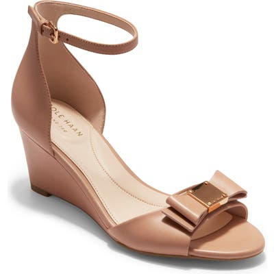 Cole Haan Tali Bow Wedge Sandal, Beige