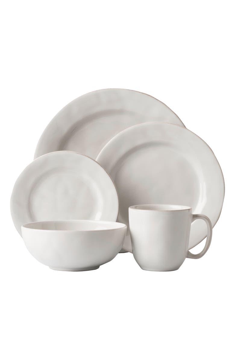 JULISKA 'Puro' 5-Piece Dinnerware Place Setting, Main, color, WHITE