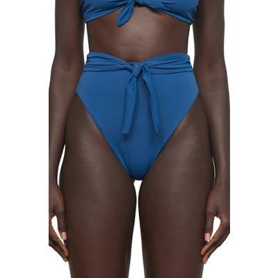Mara Hoffman Goldie High Waist Bikini Bottoms, Blue
