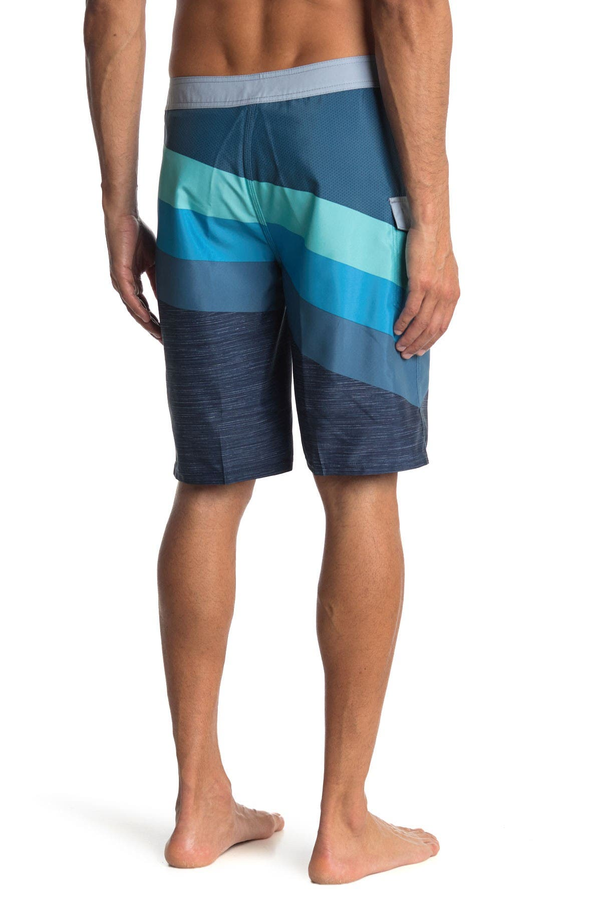 Image of Rip Curl React Colorblock Stripe Boardshorts