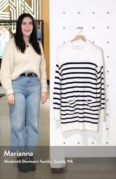 Indhra Stripe Long Sleeve Sweater Dress, sales video thumbnail