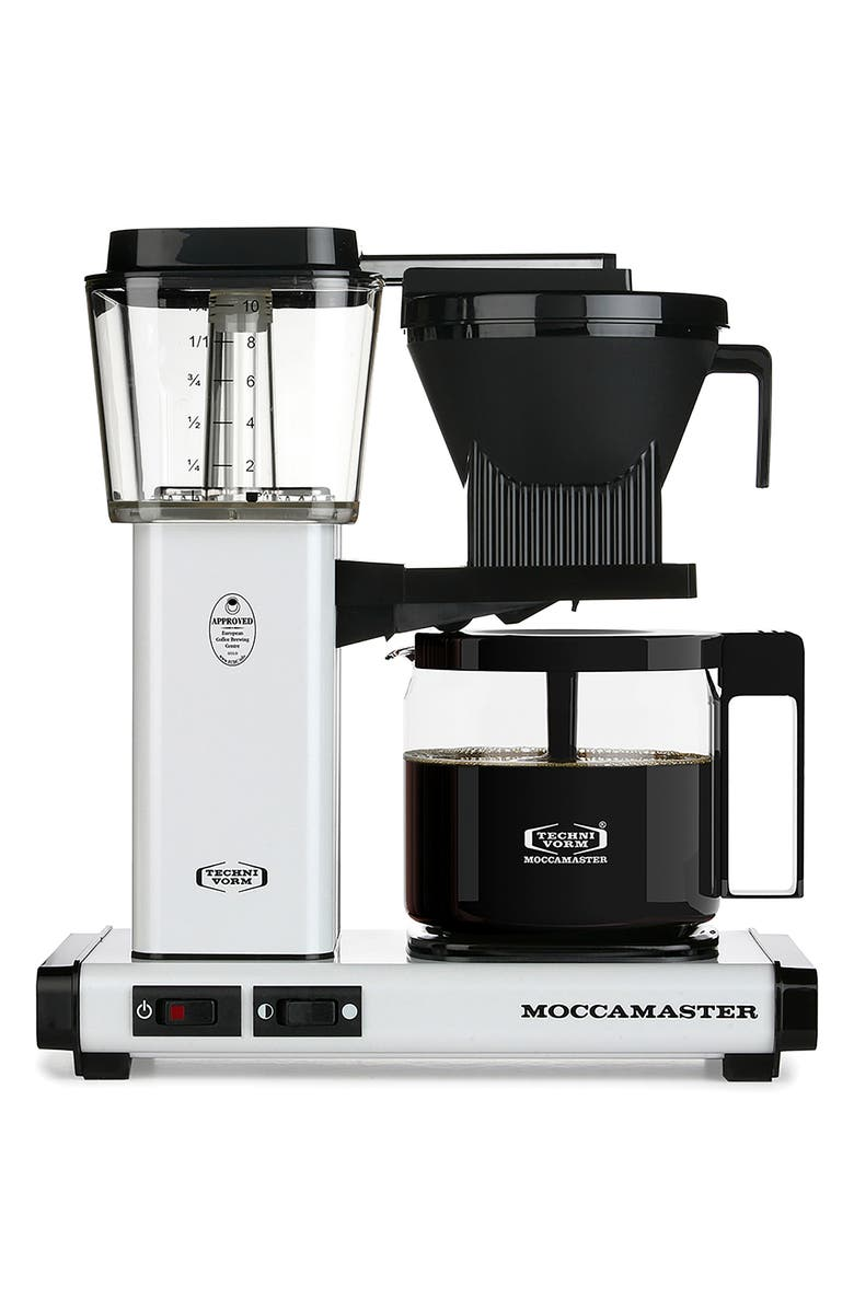 MOCCAMASTER KBG Coffee Brewer, Main, color, WHITE