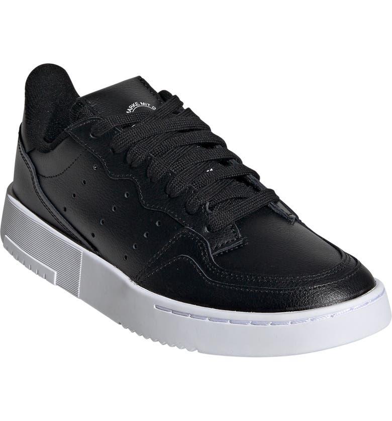 ADIDAS Supercourt Sneaker, Main, color, CORE BLACK/ CORE BLACK/ WHITE