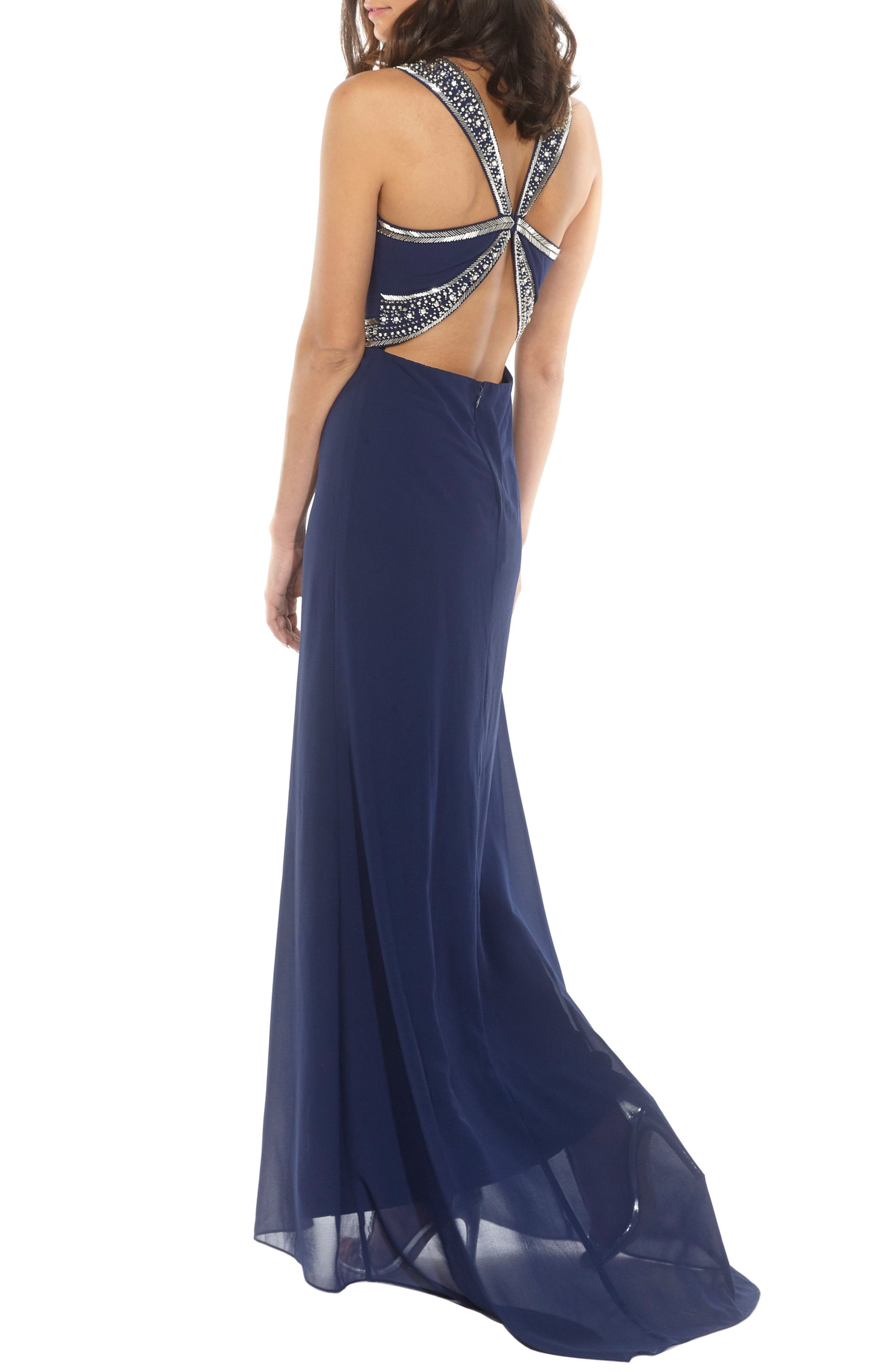 ,                             Akira Strapless Gown,                             Alternate thumbnail 8, color,                             410