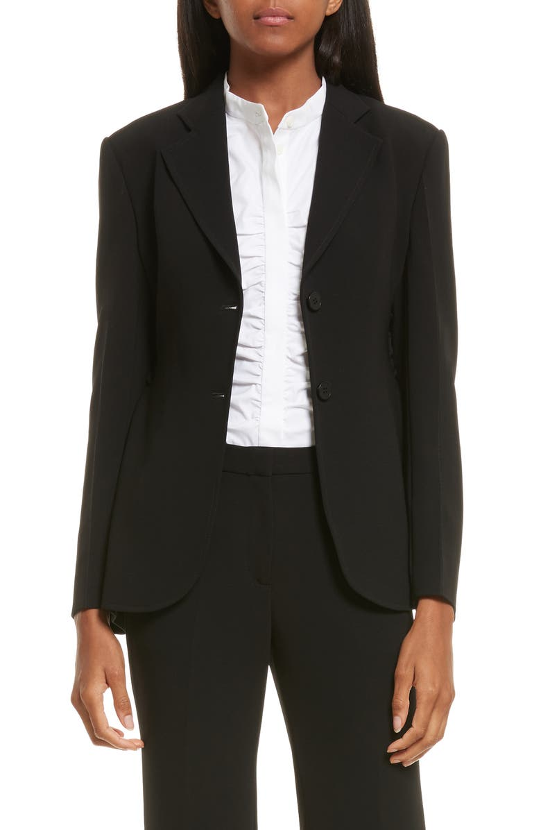 d803d196d74 Theory Admiral Crepe Lace-Up Suit Jacket   Nordstrom