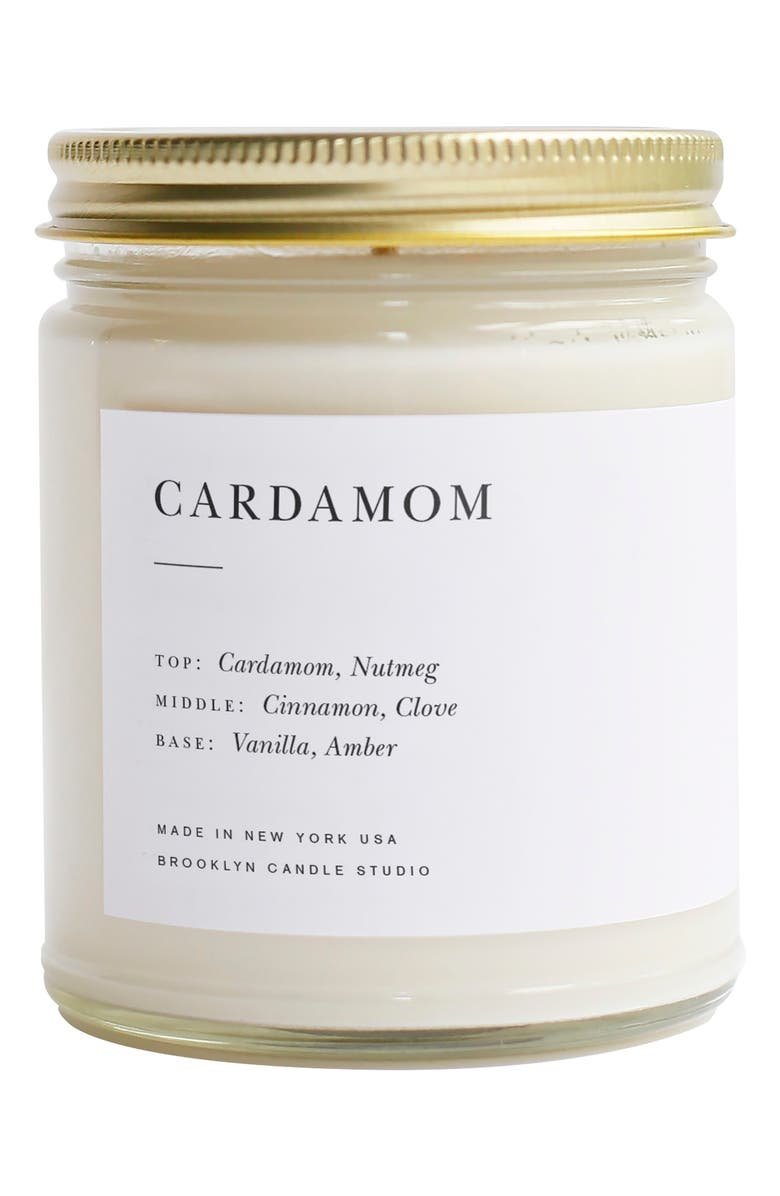 BROOKLYN CANDLE Minimalist Collection - Cardamon Candle, Main, color, CARDAMOM