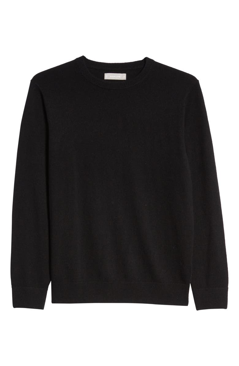EVERLANE The Cashmere Crew Sweater, Main, color, BLACK