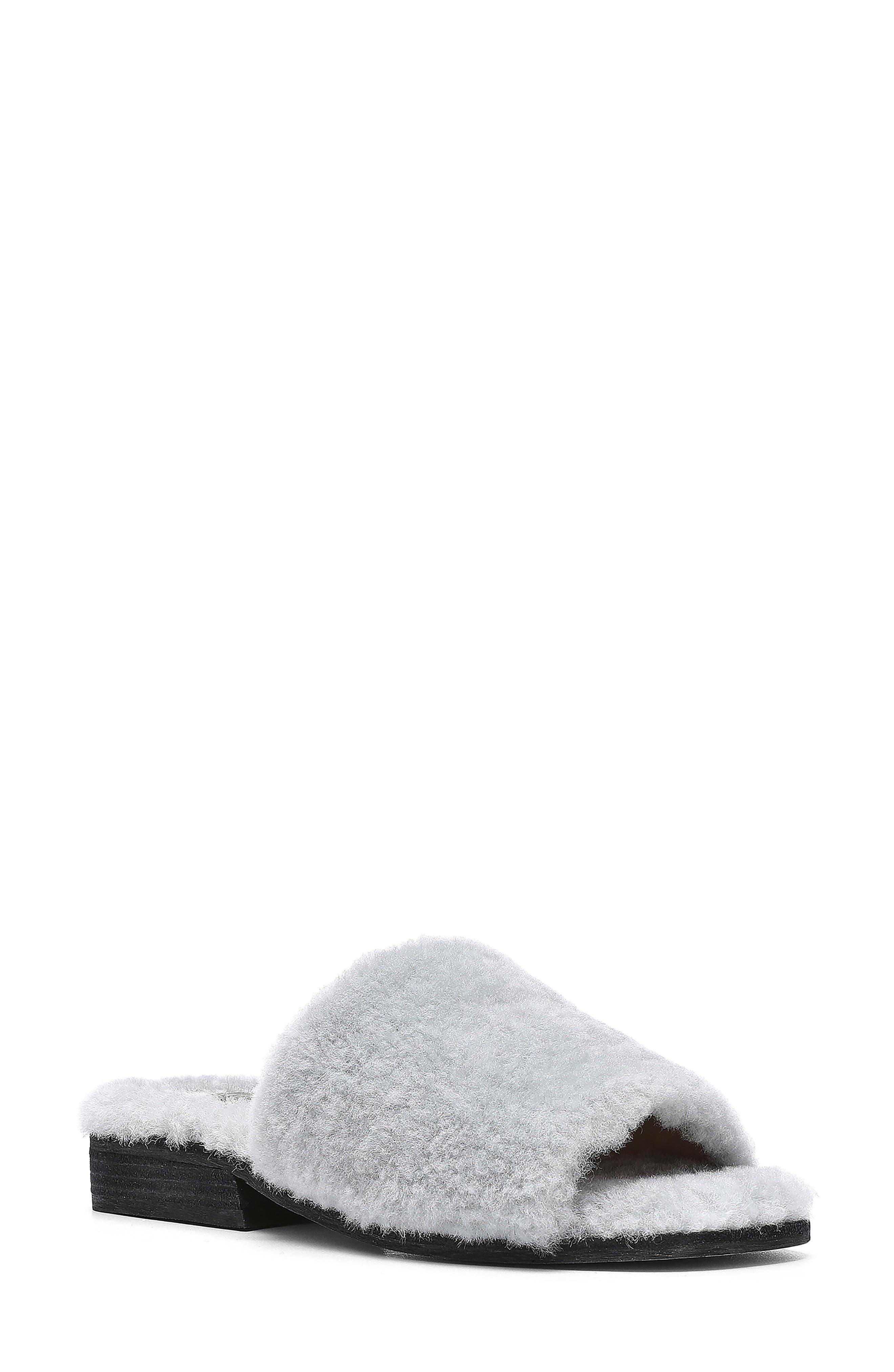 Leslie Genuine Shearling Slide Sandal