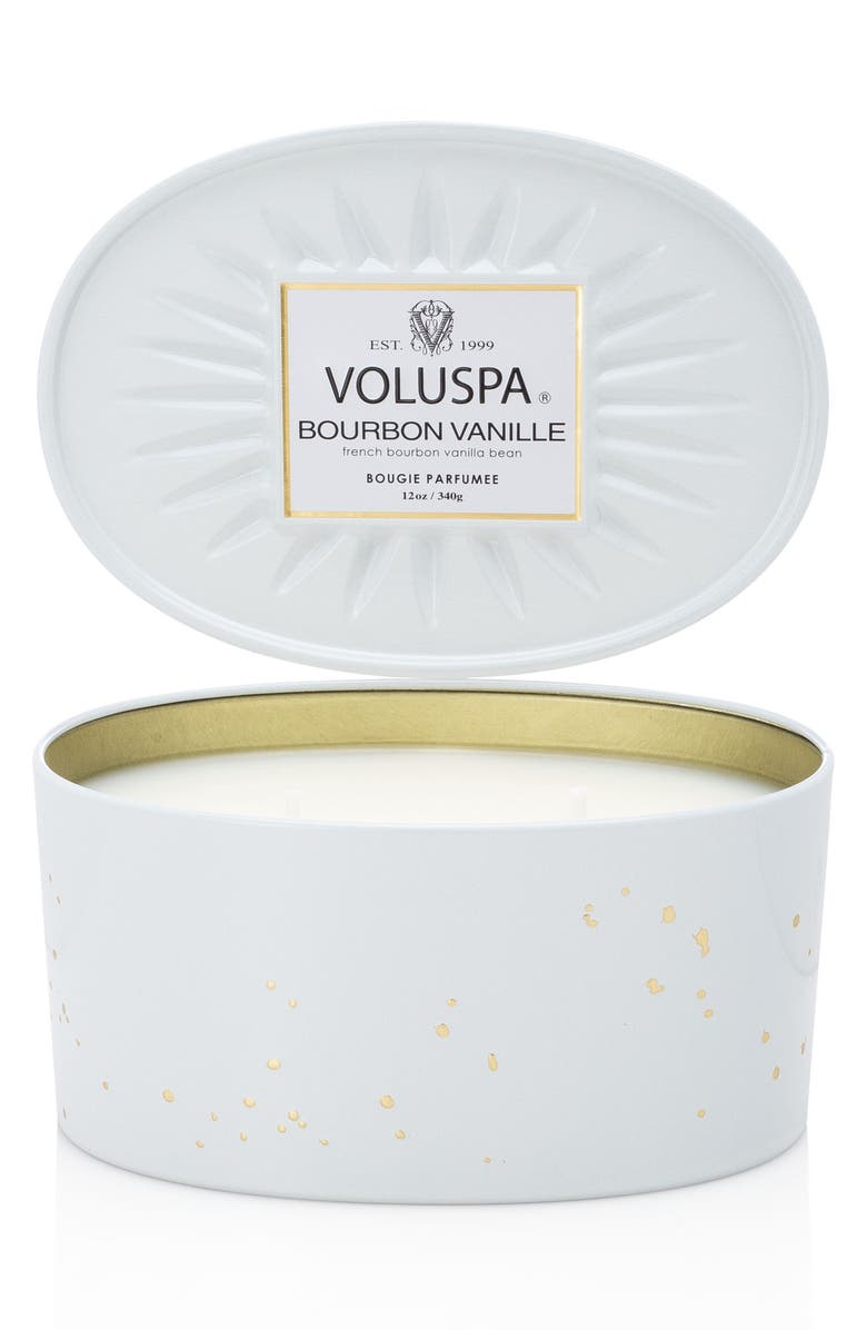 VOLUSPA Vermeil French Bourbon Vanille Oval Tin Two-Wick Candle, Main, color, NO COLOR
