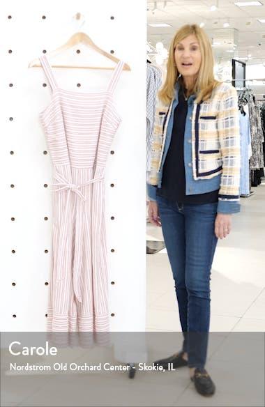 Talia Stripe Cotton & Linen Jumpsuit, sales video thumbnail