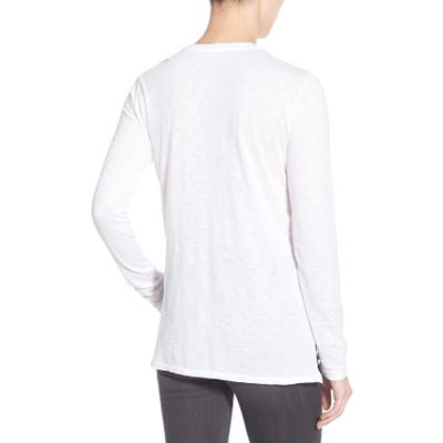Stateside Long Sleeve Slub Cotton Tee, Black