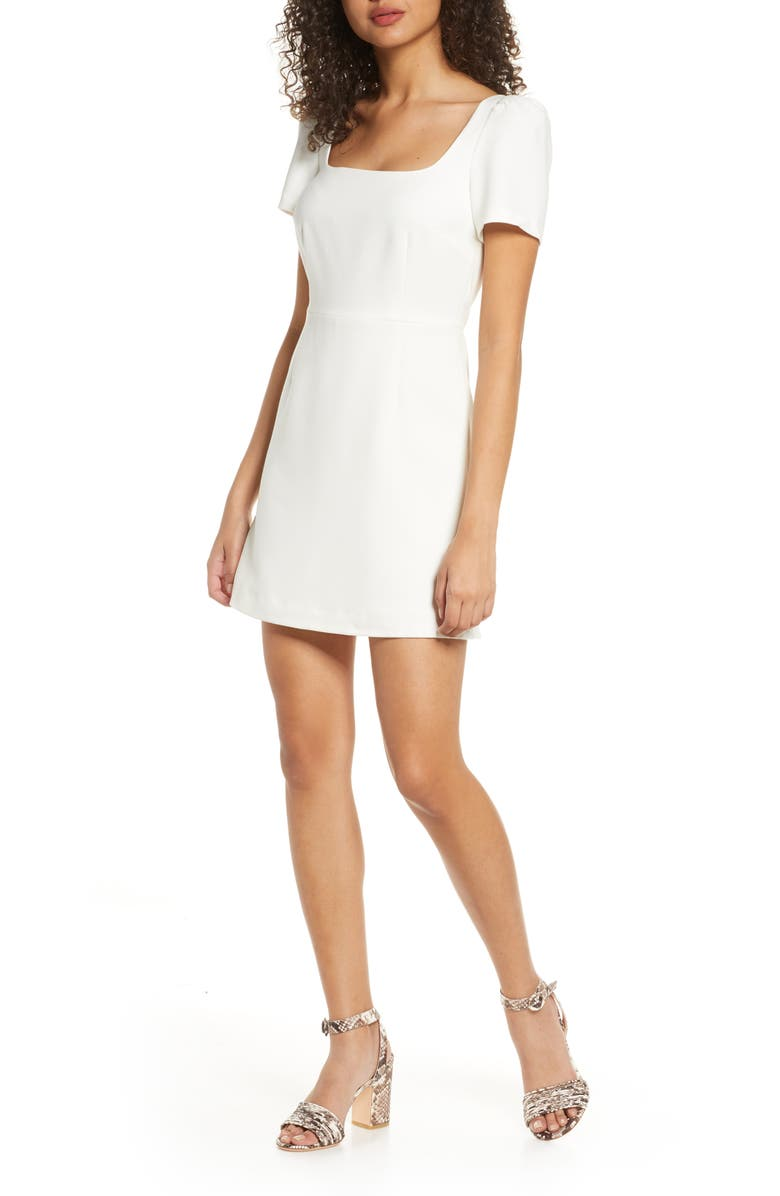 FRENCH CONNECTION Awiti Whisper Ruth Sheath Dress, Main, color, SUMMER WHITE