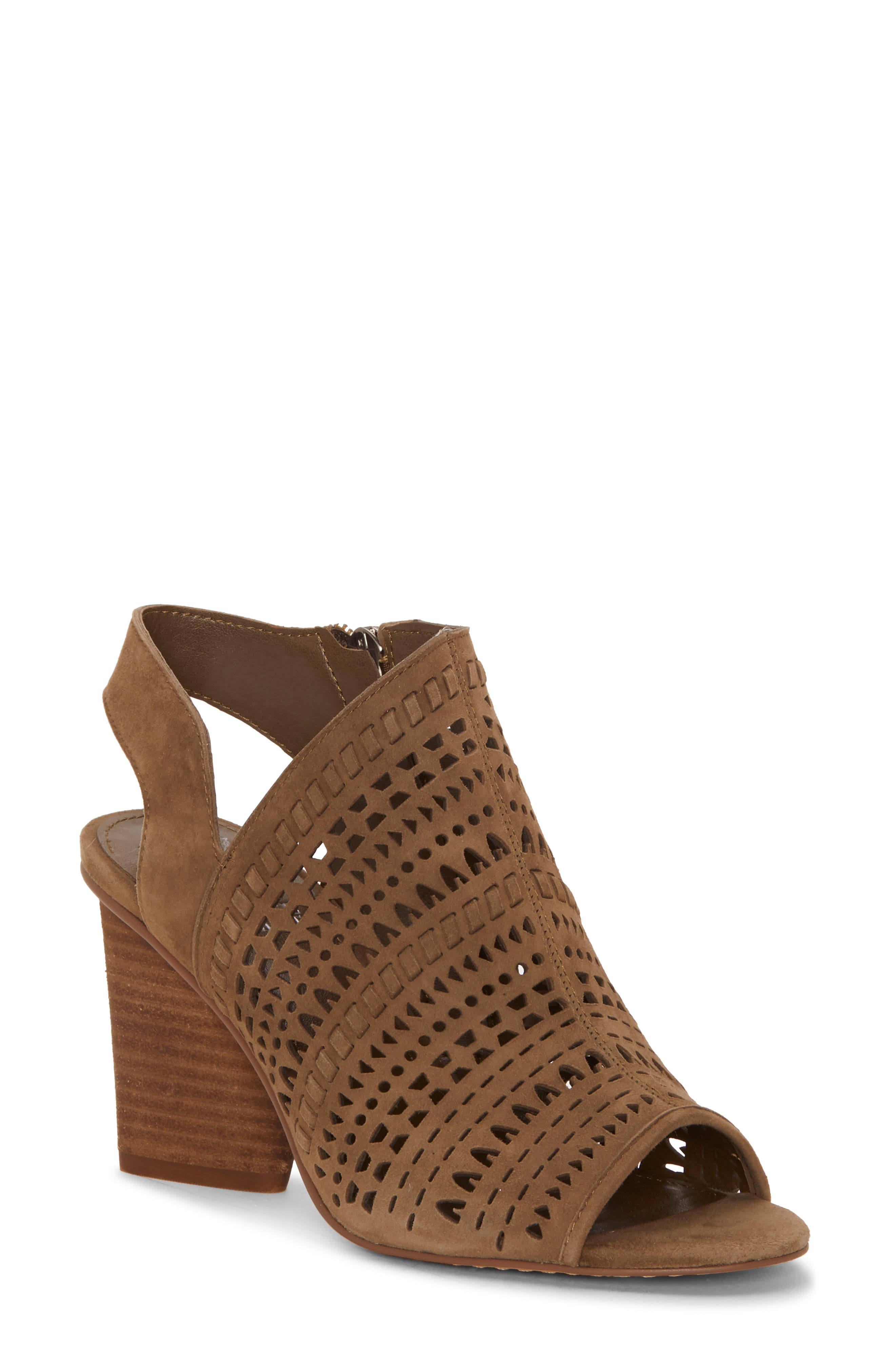 Vince Camuto Derechie Perforated Shield Sandal- Green