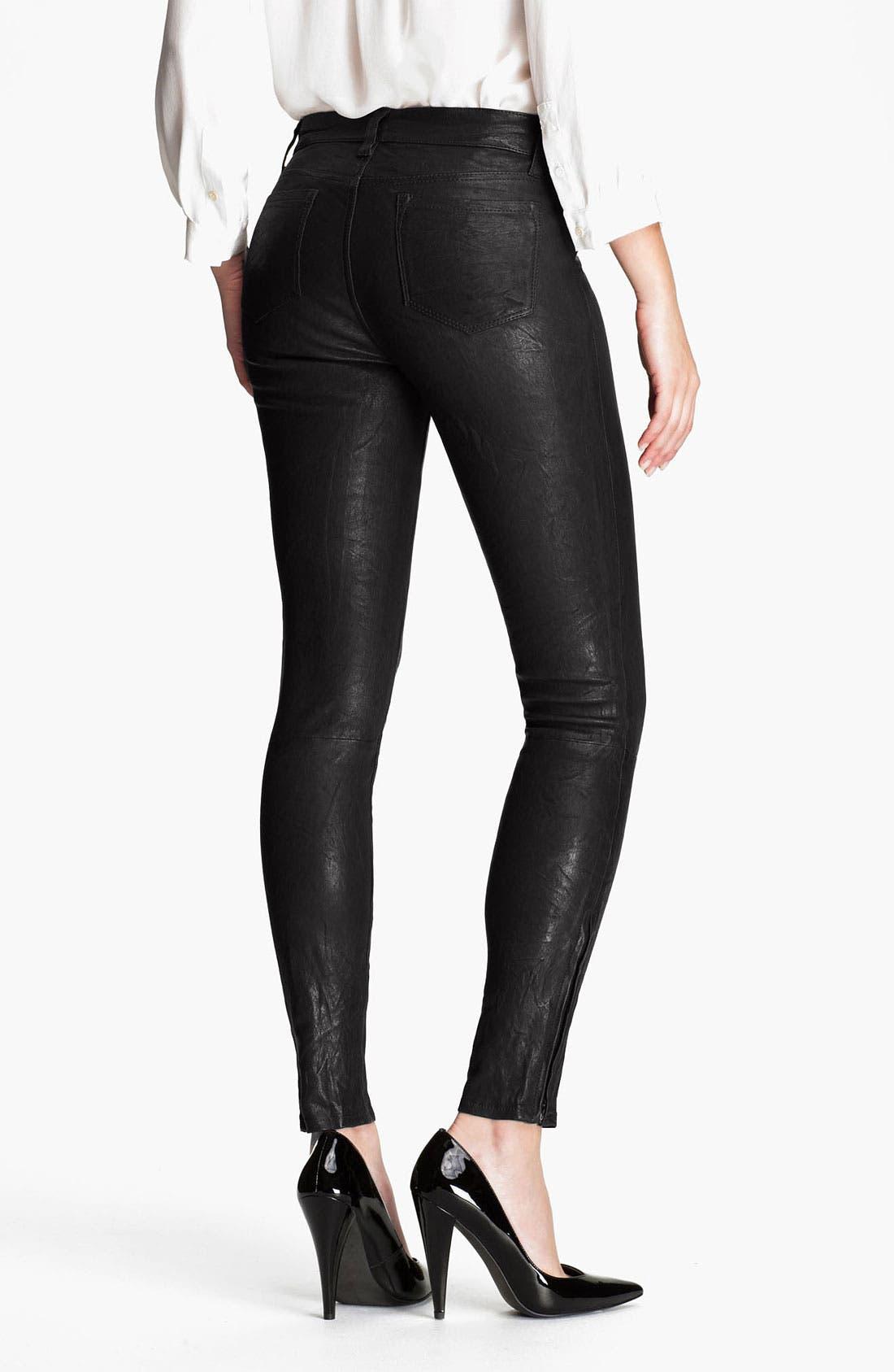 ,                             '8001' Lambskin Leather Pants,                             Alternate thumbnail 20, color,                             003