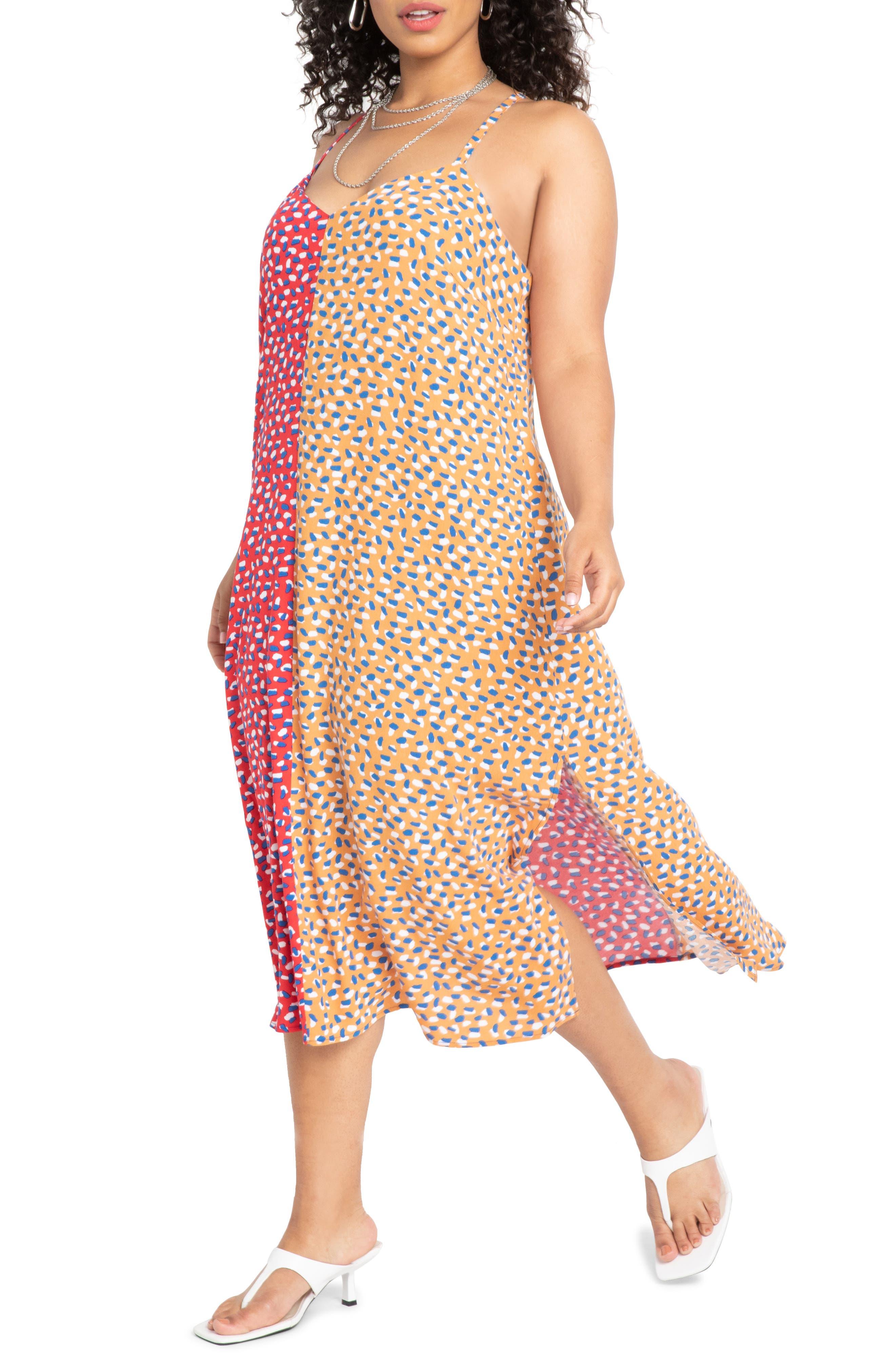 Print Colorblock Dress
