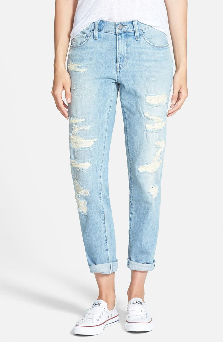 TREASURE & BOND Treasure&Bond Destroyed Boyfriend Jeans, Main, color, 400