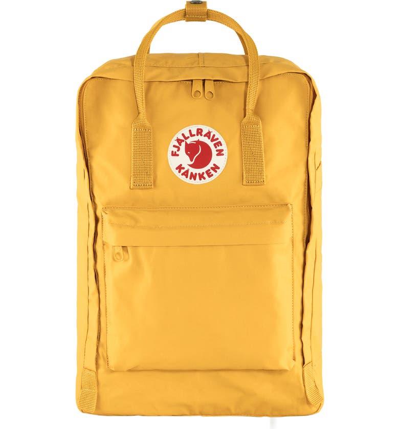 FJÄLLRÄVEN Kånken 17-Inch Laptop Backpack, Main, color, OCHRE