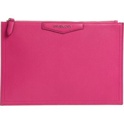 Givenchy Medium Antigona Leather Pouch - Pink