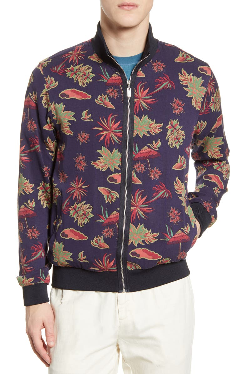 SCOTCH & SODA Floral Print Bomber Jacket, Main, color, COMBO A