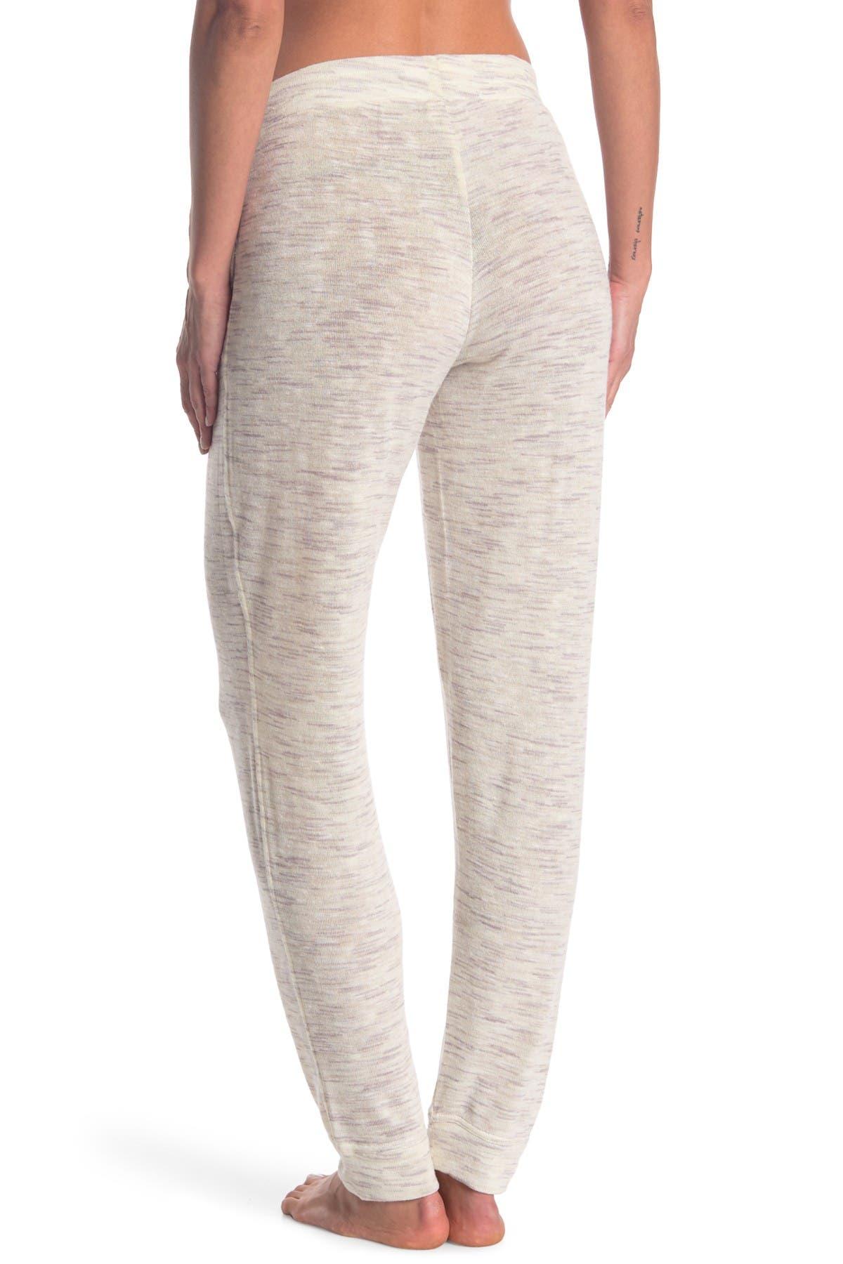 Image of HUE Space Dye Knit Cuffed Pajama Pants